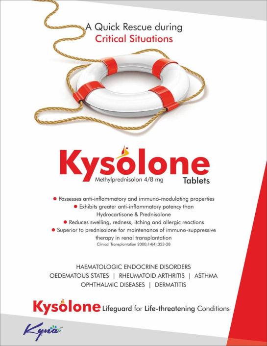 KYSOLONE Methylprednisolon 4/8mg tablets