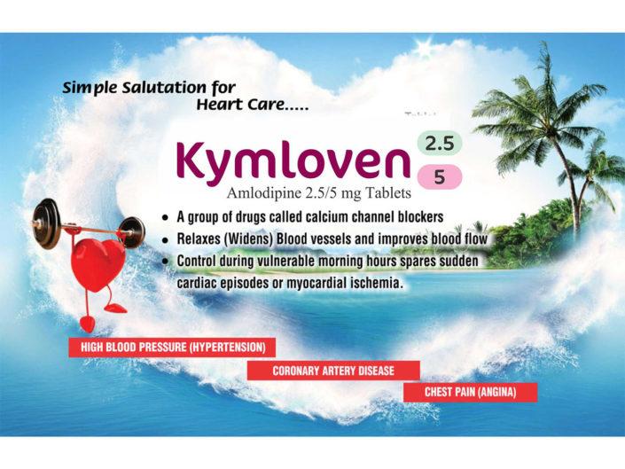 Kymloven Amlodipine 2.5/5mg tablets