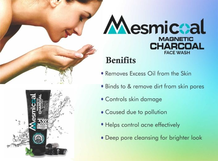 Mesmicoal magnetic charcoal face wash