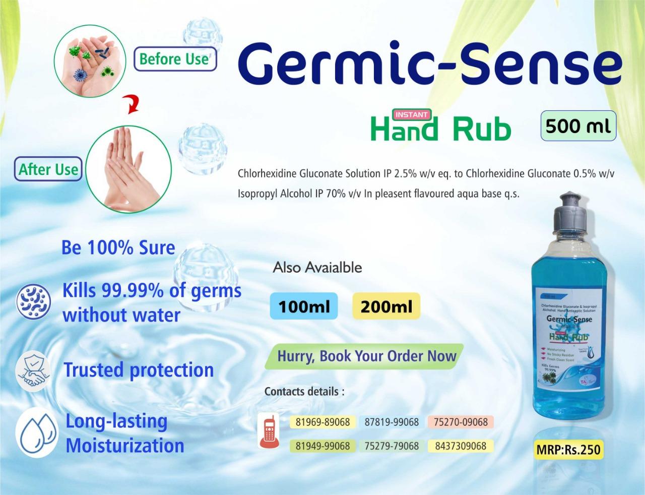 Hand Sanitizer Range for Pharma Franchise