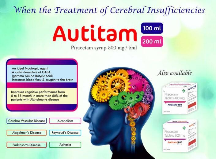 Autitam 100, 200 Pifracetam Syrup 500 mg/5ml