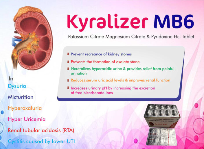 Kyralizer MB6 Potassium Citrate Magnesium Citrate & Pyridoxine Hcl Tablet